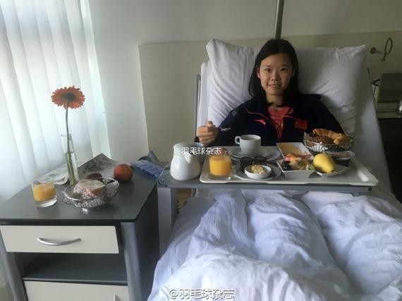 李雪芮将于今日出院(图片来源:@羽毛球杂志)