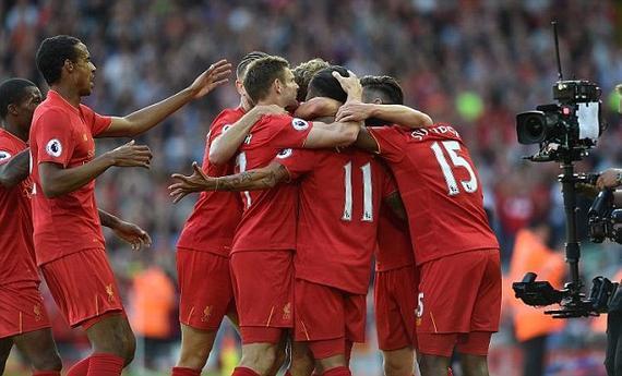 利物浦4-1大胜卫冕冠军