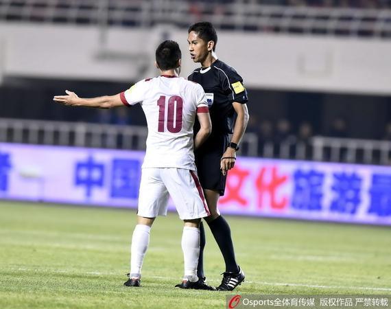 阿米鲁曾执法过国足2-0卡塔尔