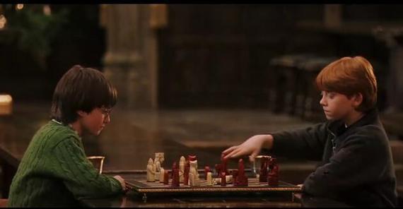 电影哈利波特里下国际象棋的情节