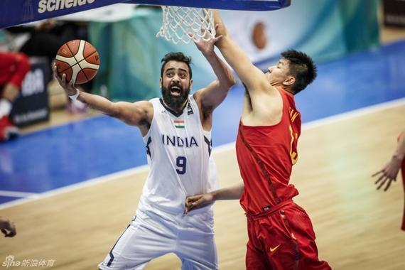 国奥男篮又一次输给了印度