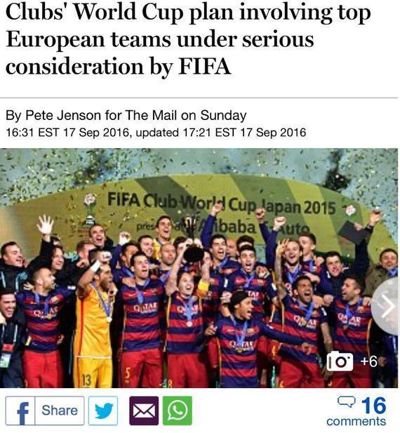 世俱杯将改革?