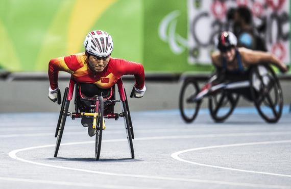 轮椅竞速选手夺中国里约残奥第100金 个人第3金