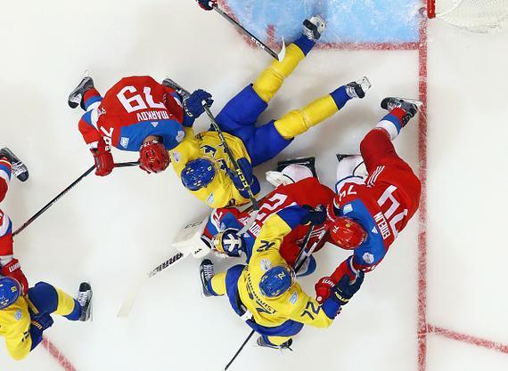 冰球世界杯瑞典12年来首胜俄罗斯