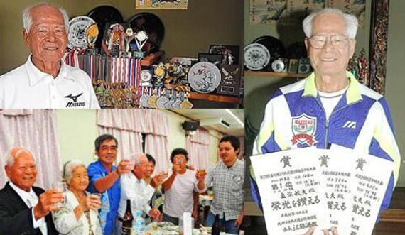90岁选手龟滨敏夫