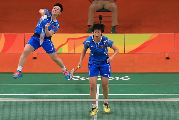 里约奥运会上,唐渊渟与于洋搭档获得女双第4名