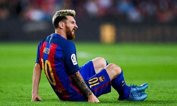 9月22日巴塞罗那vs马德里竞技全场录像 梅西旧伤复发