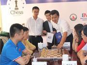 高清-国象大师混双赛3-4轮 叶江川对决谢军组合