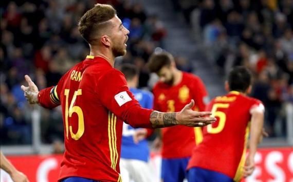 拉莫斯的犯规让西班牙被判点球