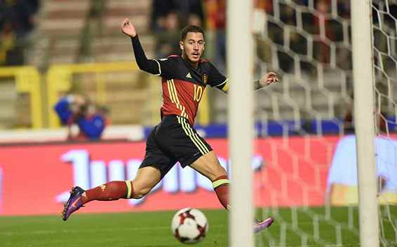 阿扎尔传射,比利时4-0大胜