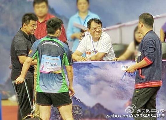 吴敬平教练和几位弟子