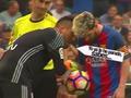 梅西主罚点球前遭门将挑衅