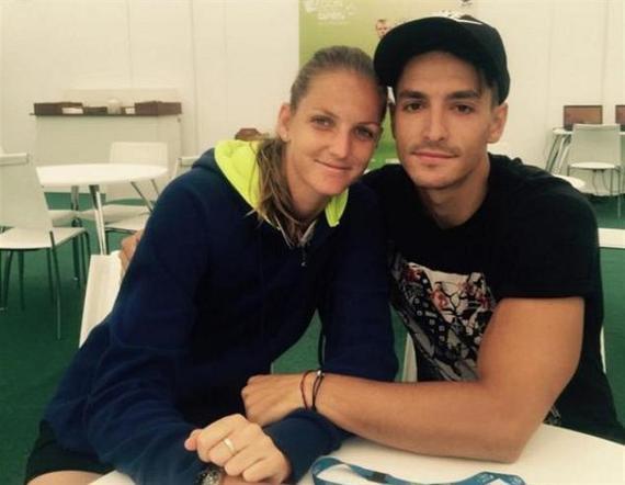 普利斯科娃和男友