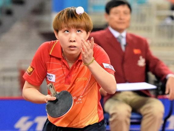 朱雨玲在比赛中(资料图)