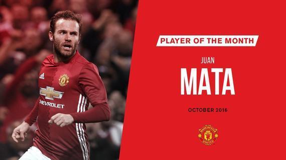 曼联10月最佳球员:马塔