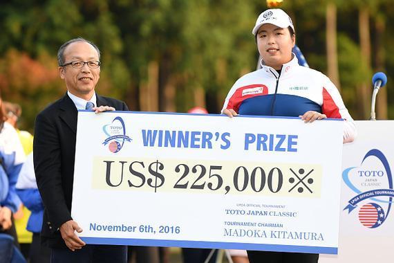 冯珊珊日本精英赛夺冠收获22.5万美元