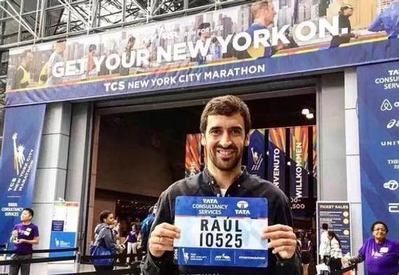 球星劳尔现身2016纽约马拉松,3小时26分完成人生首马。