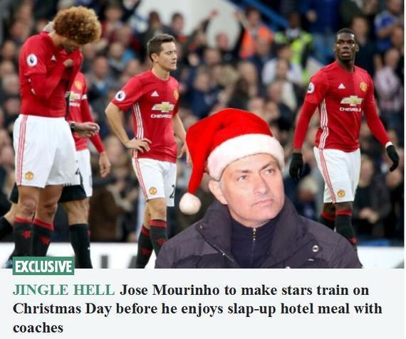 英媒称穆帅要求曼联圣诞加练