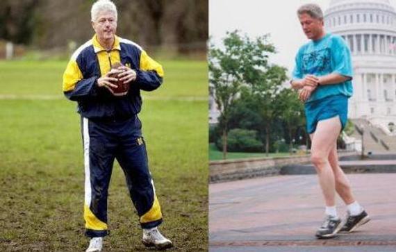美国总统为跑步也是蛮拼的! 克林顿最平易近人