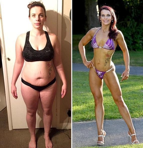 英女警察健身半年瘦57斤勇夺比基尼小姐亚军
