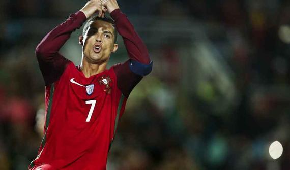 C罗2球,葡萄牙4-1取胜