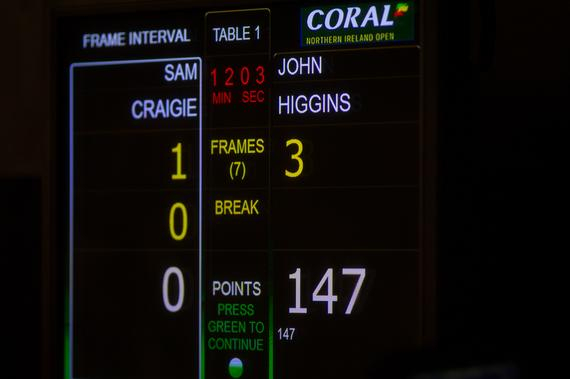 希金斯轰出第八杆147分