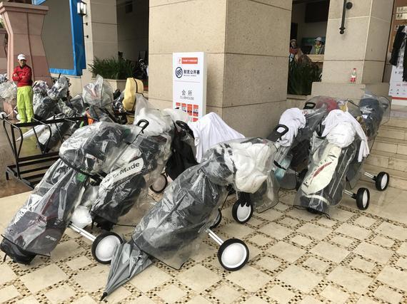 国家美巡赛广州揭露赛因雨停息