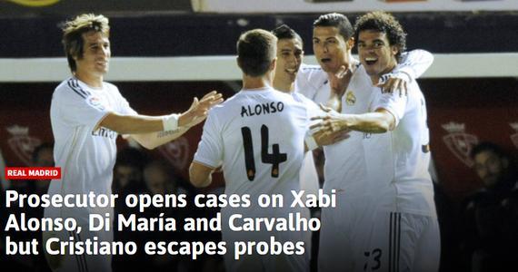 3名前皇马球员涉嫌逃税遭调查 不涉及C罗