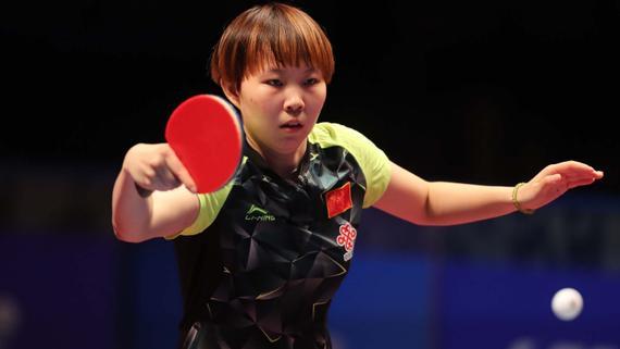 朱雨玲在决赛中