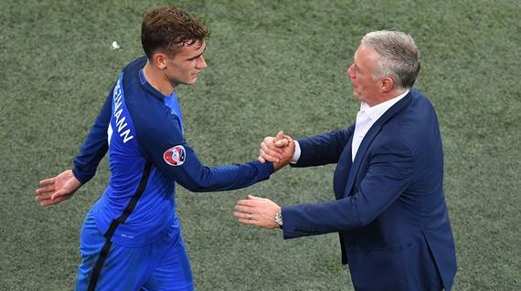 德尚:我认为格列兹曼将赢得世界足球先生