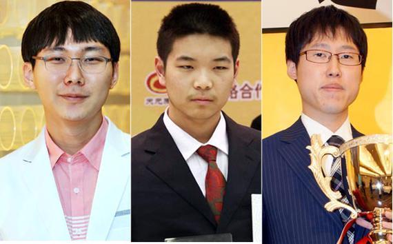 左起:朴廷桓、芈昱廷、井山裕太