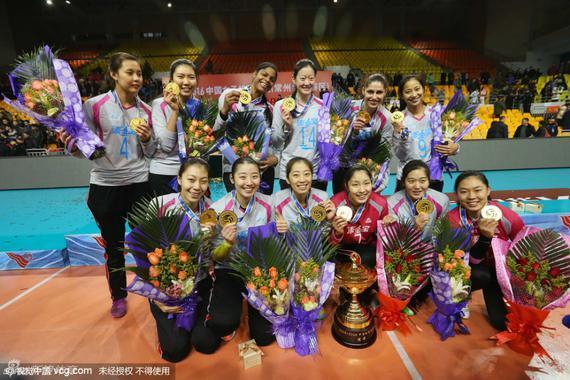 2015-2016赛季天津女排夺得第10冠