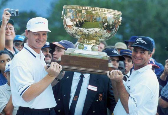 韦恩-维斯特纳(右)曾与埃尔斯搭档赢得1996年世界杯的冠军