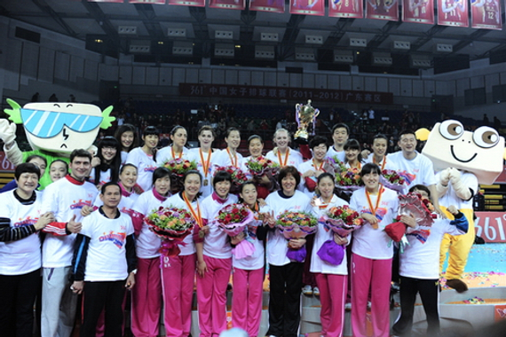 2011-2012赛季郎平率恒大女排夺冠