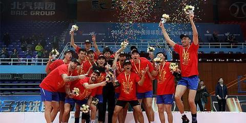 上海男排夺联赛第13冠