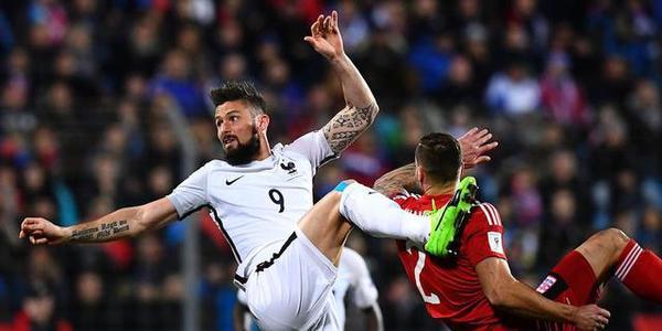 世预-吉鲁两球 法国3-1