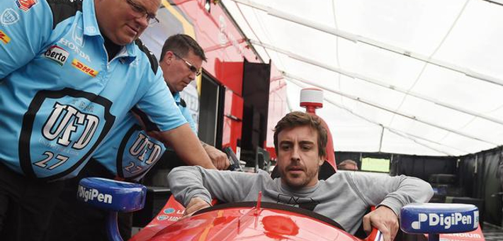 阿隆索印地赛车初体验