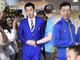 视频-国乒将士蓝色正装亮相 出征杜塞尔多夫世乒赛