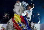 马德里城皇马球迷狂欢