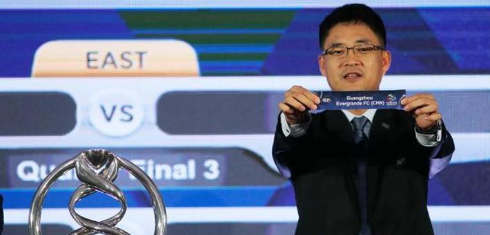 亚冠1/4决赛抽签:恒大遭遇上港