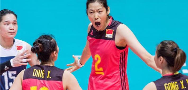 女排大奖赛香港站中国3-1日本