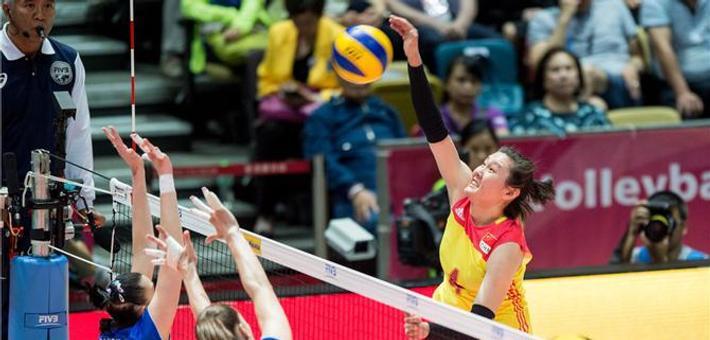 女排大奖赛香港站中国1-3俄罗斯