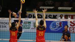 亚锦赛中国男排1-3负中国台北 1/4决赛力拼韩国
