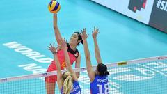 朱婷带伤上阵女排1-3塞尔维亚 大奖赛第四名收官