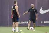 西班牙超级杯次回合巴塞罗那备战训练