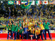 男排大冠军杯巴西第5次折桂 意大利夺银伊朗摘铜