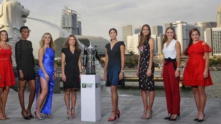 WTA总决赛抽签仪式八娇亮相