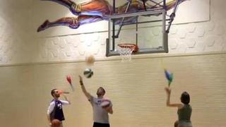 花式篮球还能这样玩?