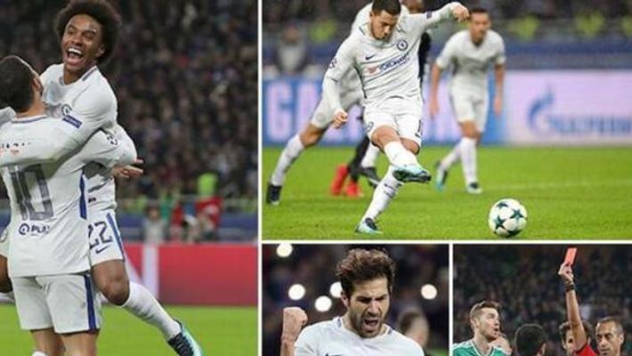 欧冠-威廉2球 切尔西4-0胜提前出线