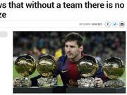 梅西证明即使个人再强 没有团队还是无法获奖